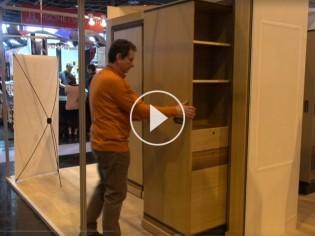 Concours Lépine 2015 : Hic & Ubiq, le meuble gain de place qui tourne (VIDEO)