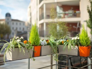 Balcons : donnez du rythme grâce aux jardinières !