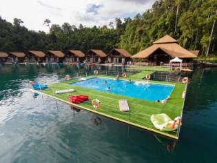 Insolite : une piscine flottante à installer sur les plans d'eau