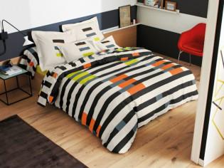 Linge de lit : la mode est aux parures graphiques !