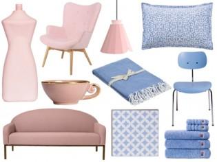 Couleurs de l'année Pantone : une déco rose Quartz et bleu Serenity