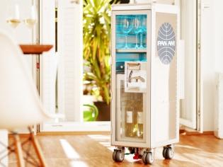 Quand le chariot à boissons des avions devient un meuble design...