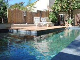 Une piscine biologique comme une rivière dans son jardin