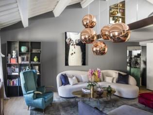 Art et design à tous les étages d'un duplex italien