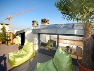 Un bureau sous les combles et... en terrasse !