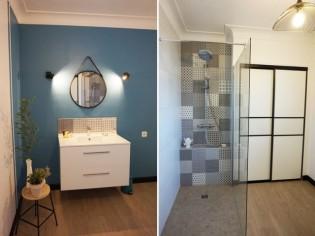 Une salle de bains de 8 m2 rafraîchie pour moins de 10.000 €