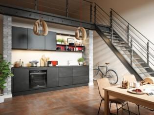 Une cuisine sans poignées aux placards, c'est tendance !