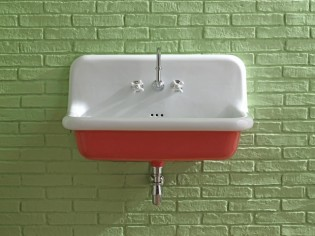 Insolite : des lavabos rétro aux couleurs funky