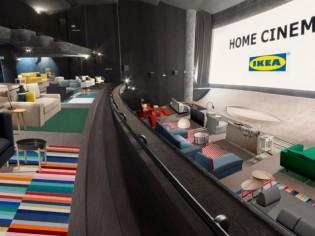Ikea aménage des salons dans une salle de cinéma