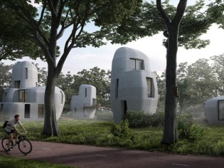 Des maisons-rochers en béton, imprimées en 3D...