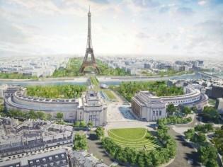 La tour Eiffel sera entourée du plus grand parc de Paris d'ici 2024