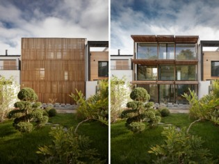 Cette maison de verre et de bois cache une piscine intérieure