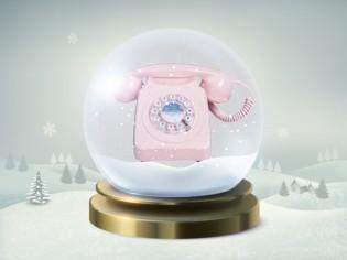 18 décembre : un téléphone rétro tout rose