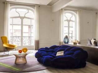 Relooking contemporain pour cet appartement haussmannien
