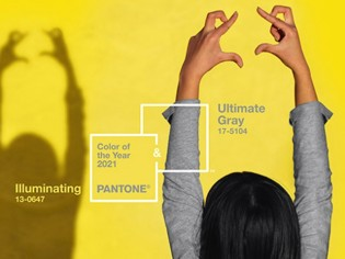 Ultimate Gray et Illuminating élues couleurs de l'année 2021 par Pantone