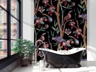 Salle de bains : du papier peint pour une déco originale