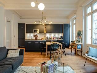 Un nouvel espace de vie pour cet appartement à l'esprit bohème