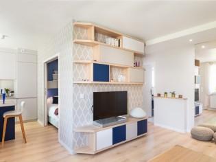 Une chambre en plus dans ce 52 m2 astucieusement réorganisé