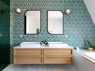 Du carrelage original pour booster la déco de sa salle de bains !