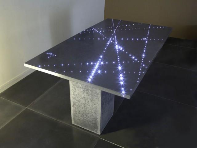 table flight fibres optiques passaniti beton