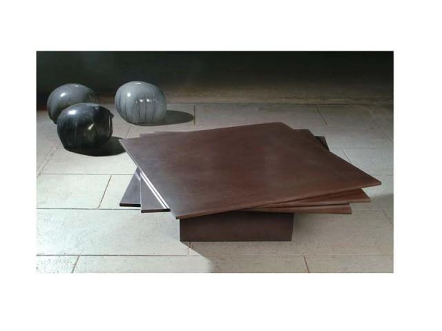 table basse trois feuilles passaniti beton