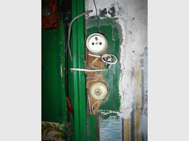 Exemple d'installation électrique vétuste
