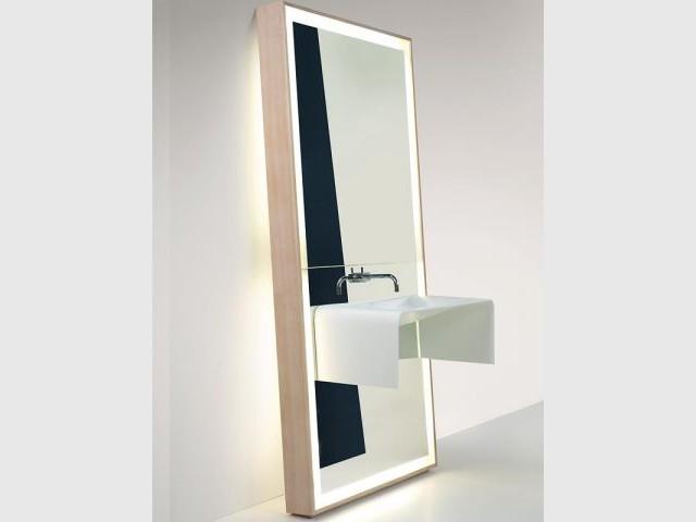 Miroir-vasque en Corian