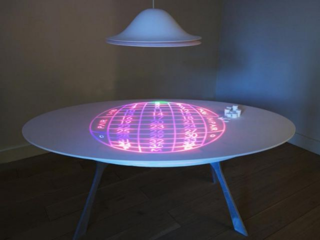 The LED Table (The Electric Kid), by Moritz Waldme
