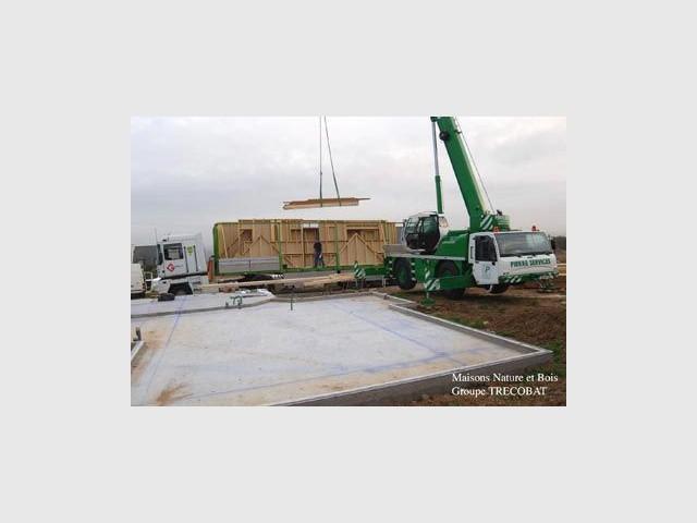 sur le chantier maison bois trecobat