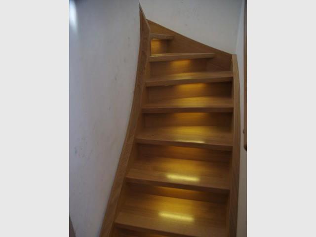escalier retroeclaire maison carole