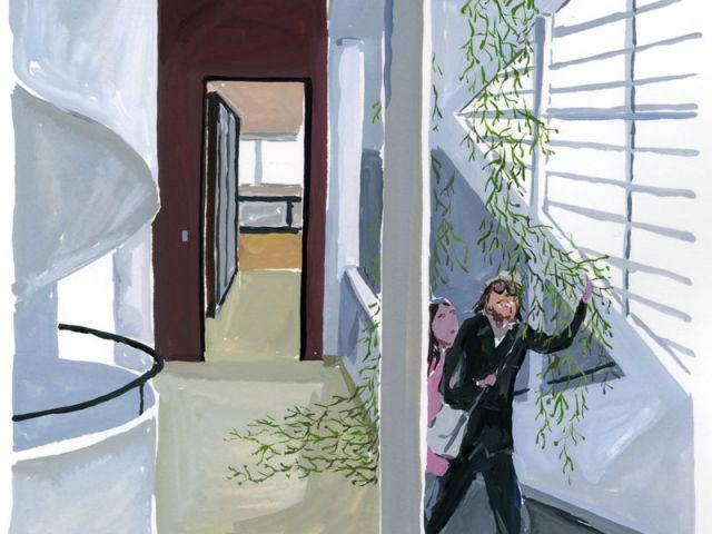 escalier illustration villa Savoye