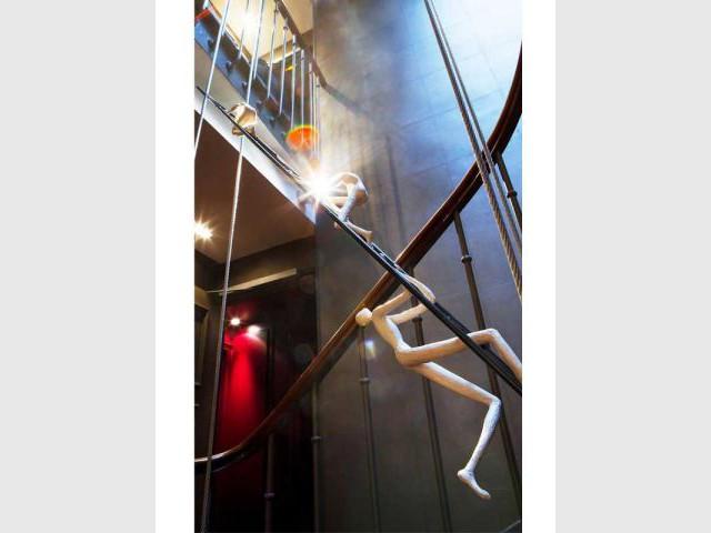 Détail de l'escalier hôtel des arts