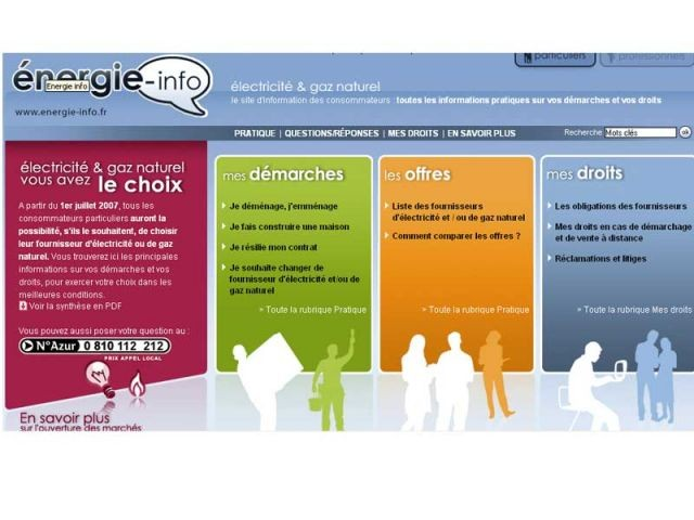 energie info site internet