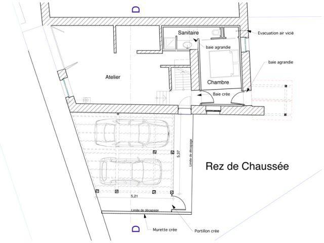 rez-de-chaussée architecteurs maison briere