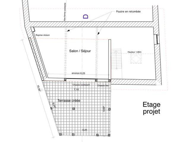 architecteurs premier étage maison brière