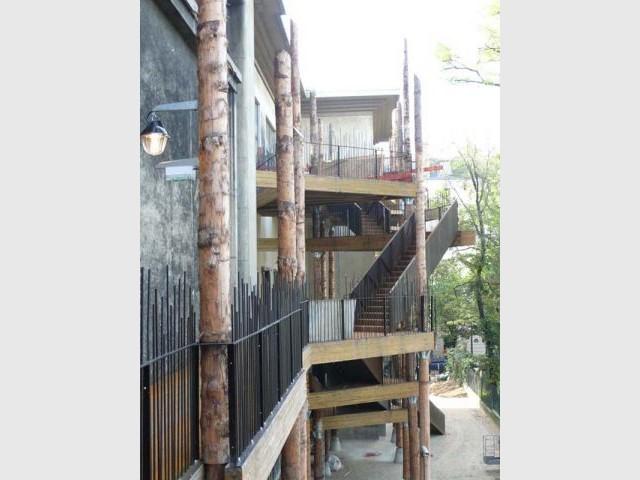 Escaliers de secours - Cité Immigration