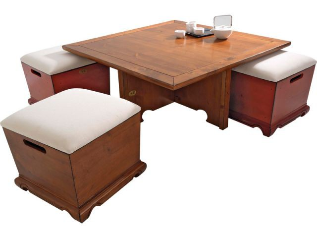 Vive la modularit for Table basse avec pouf integre