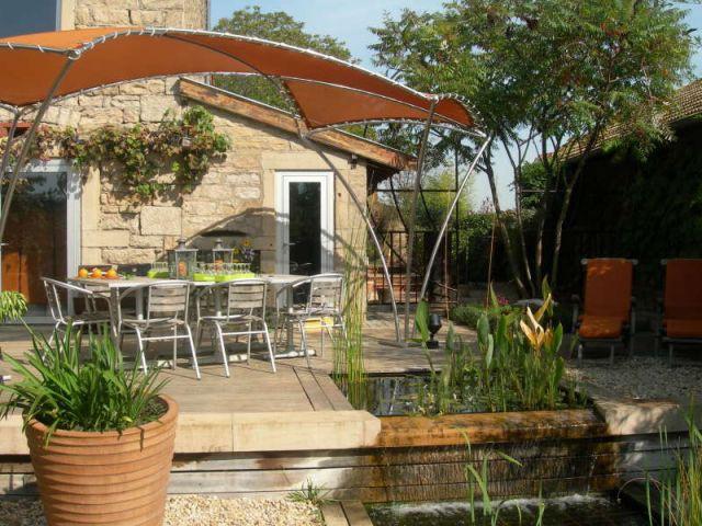 Maison en pierres - piscine
