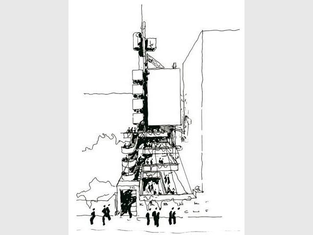 Croquis pour la tour Kabuki Cho - pritzker2007