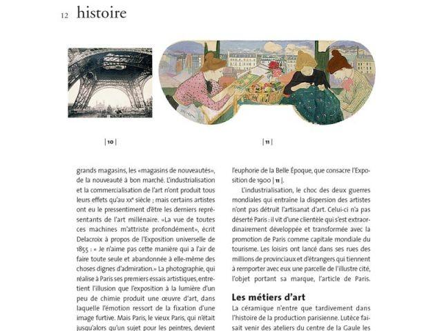 artisans et métiers art Paris histoire