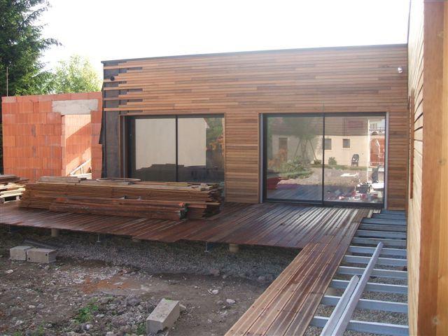 Construction de la terrasse - reportage maison Vriet