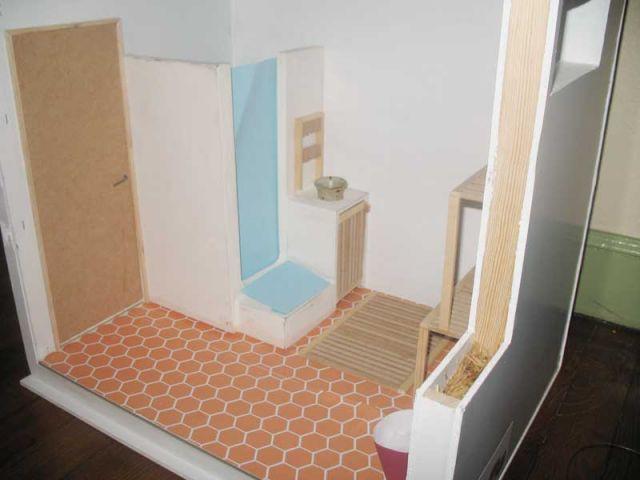 Maquette - Salle de bain écolo Combi-maison