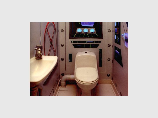 WC décorés - sous-marin