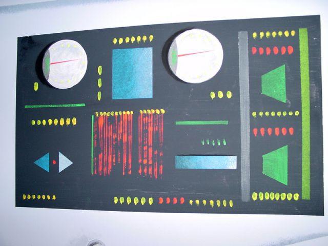 Borne de contrôle - WC décorés - sous-marin