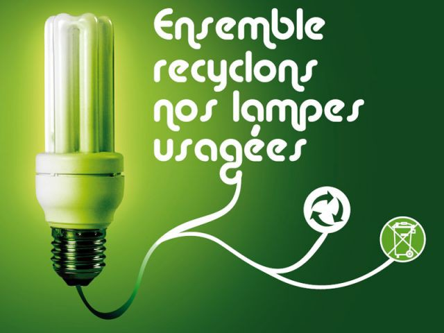 Lampe Récylum recyclage
