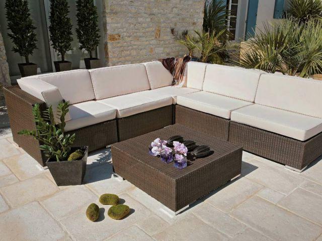 Table fauteuil angle Almeria Océo