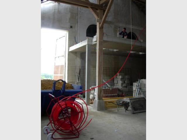 Dérouleur de tube 1/2 - grange - plancher chauffant - Thermozyklus