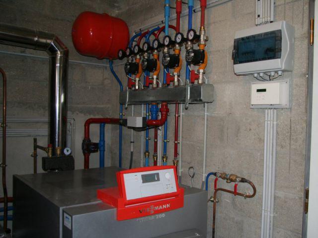 Système de régulation - grange - plancher chauffant - Thermozyklus