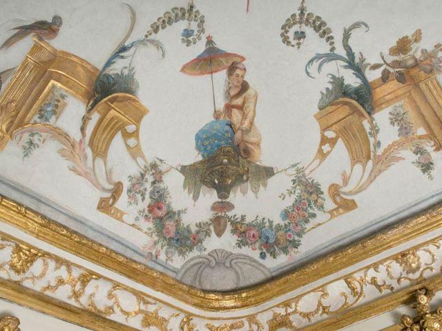 plafond de la Grande singerie Chantilly rénové