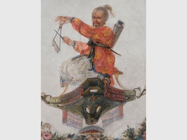 Personnage chinois après restauration - Décor Grande Singerie Chantilly